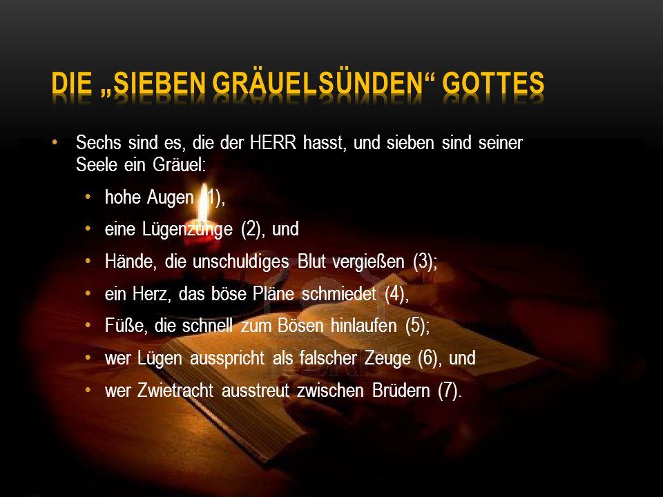 """Die """"Sieben GräuelSünden Gottes"""