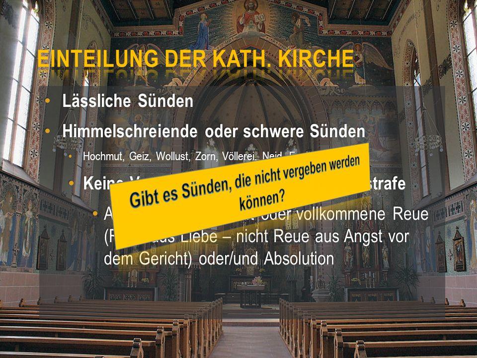 Einteilung Der Kath. Kirche