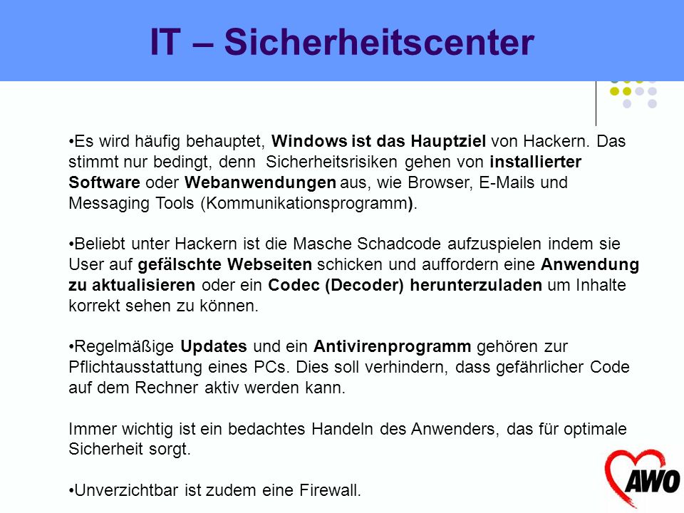 IT – Sicherheitscenter
