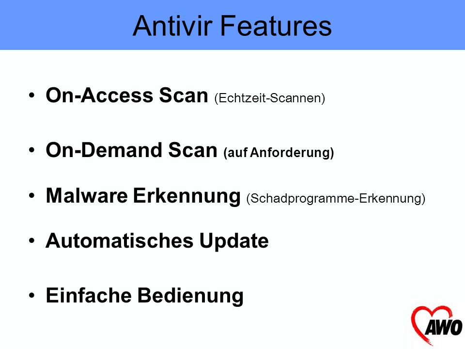 Antivir Features On-Access Scan (Echtzeit-Scannen)