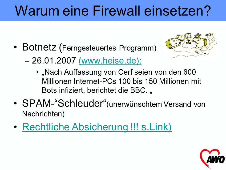 Warum eine Firewall einsetzen