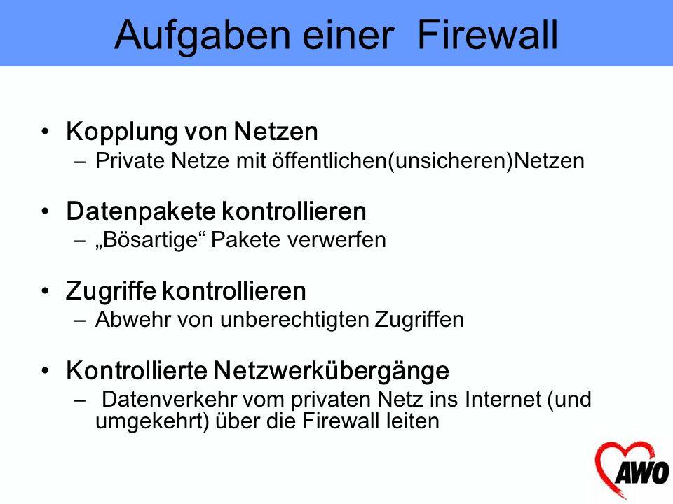 Aufgaben einer Firewall