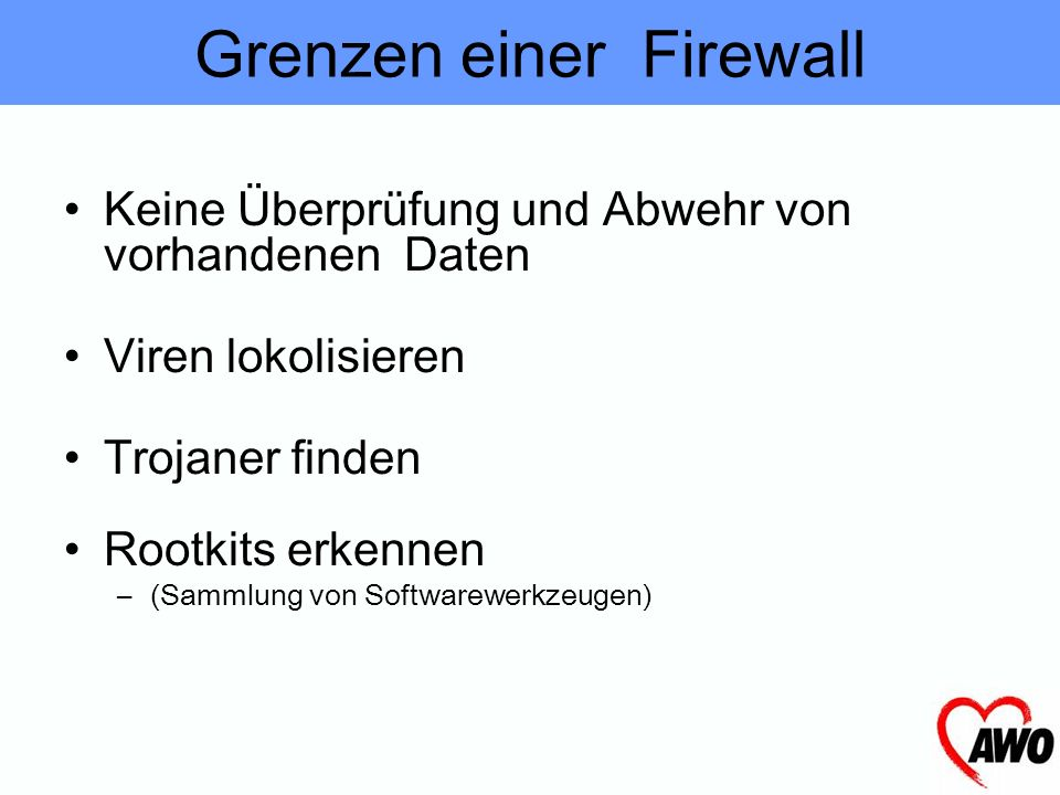 Grenzen einer Firewall