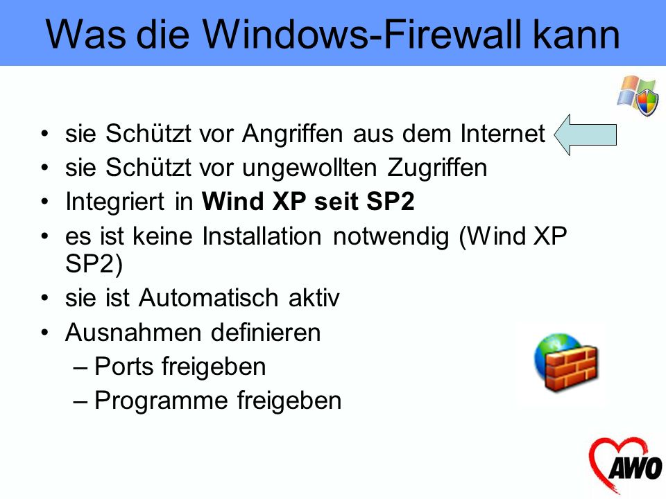 Was die Windows-Firewall kann