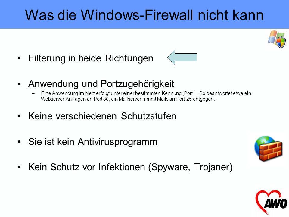 Was die Windows-Firewall nicht kann