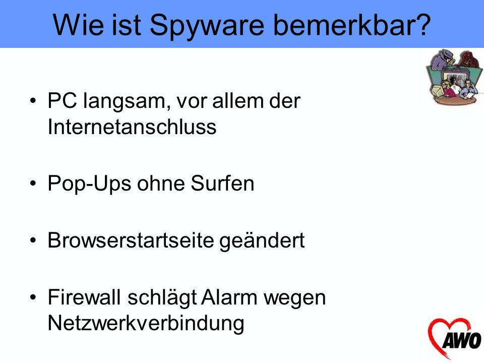 Wie ist Spyware bemerkbar