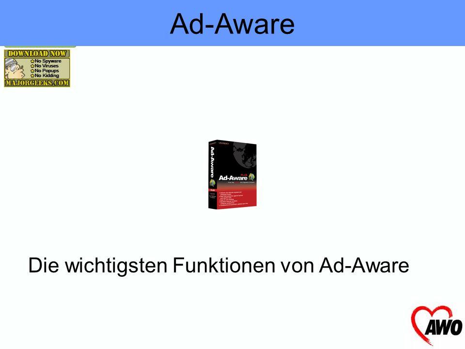 Ad-Aware Die wichtigsten Funktionen von Ad-Aware