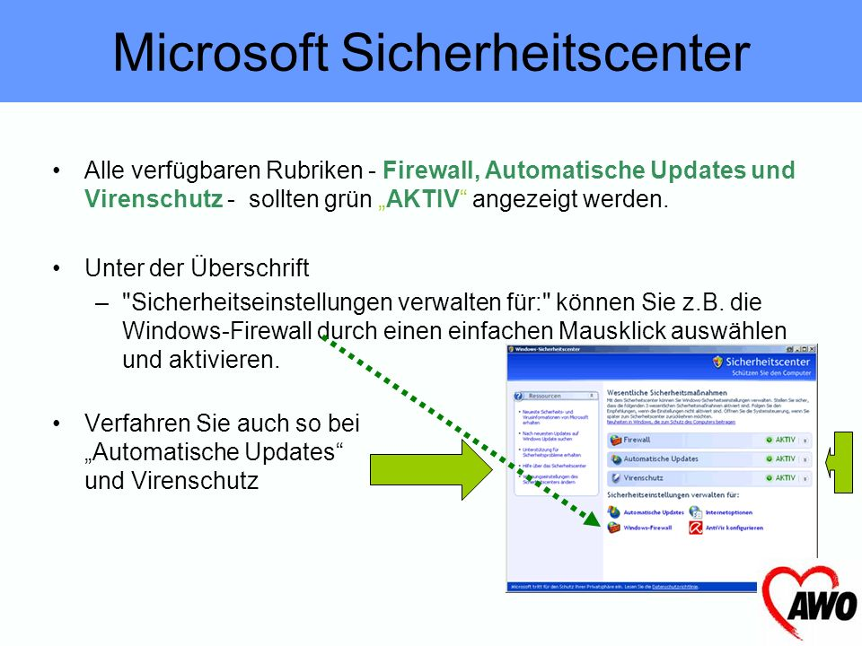 Microsoft Sicherheitscenter