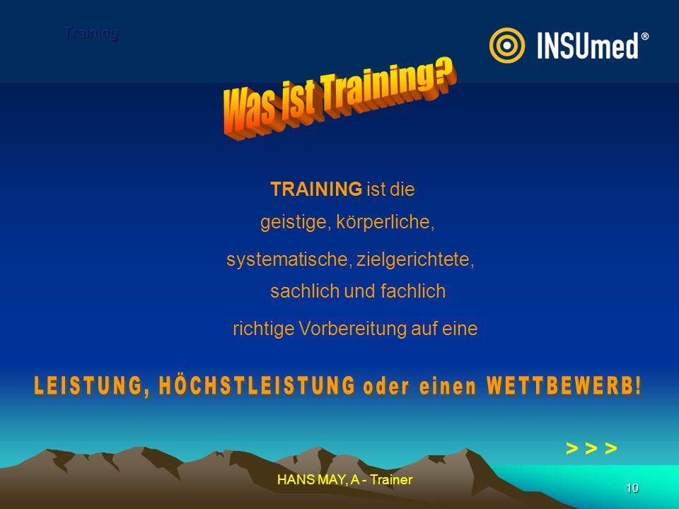 Was ist Training > > > TRAINING ist die