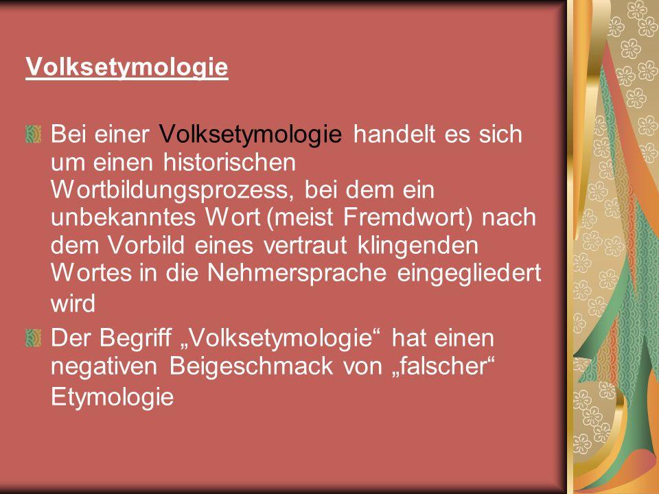 Volksetymologie