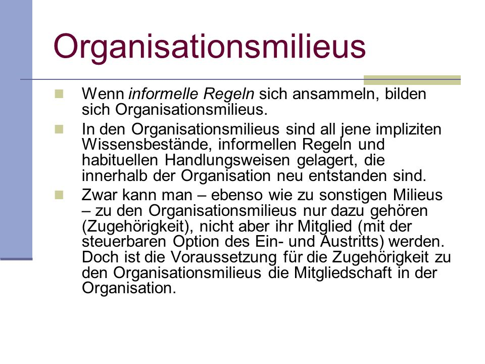 Organisationsmilieus
