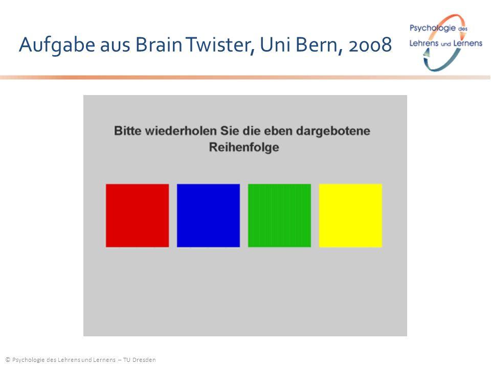 Aufgabe aus Brain Twister, Uni Bern, 2008