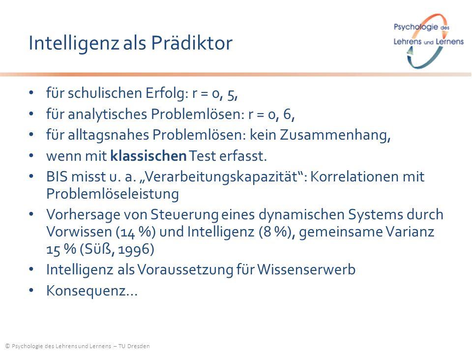 Intelligenz als Prädiktor