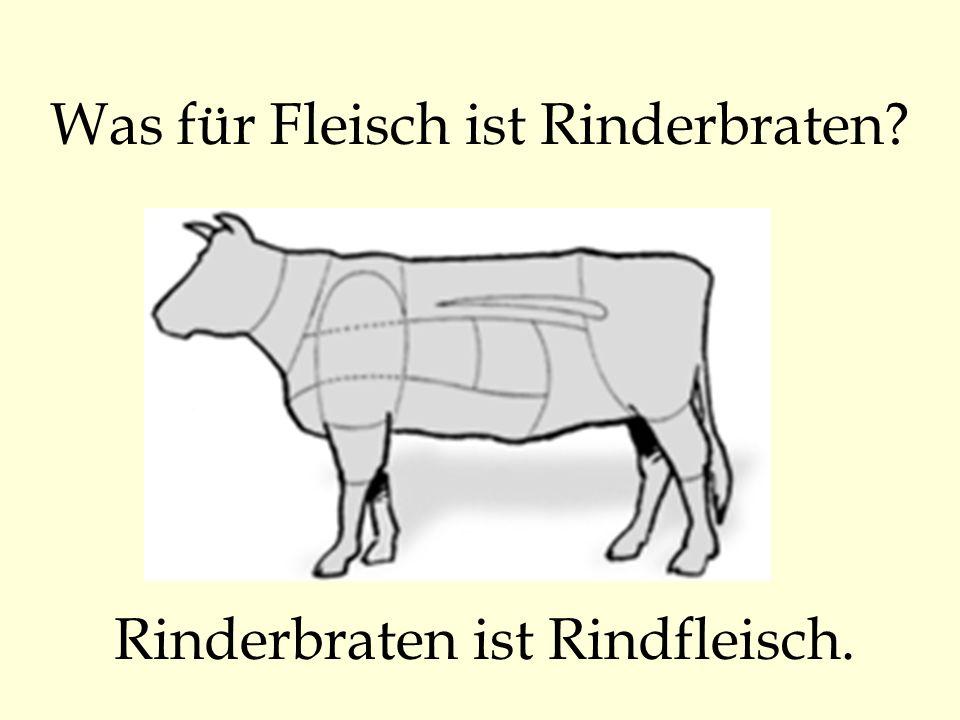 Was für Fleisch ist Rinderbraten
