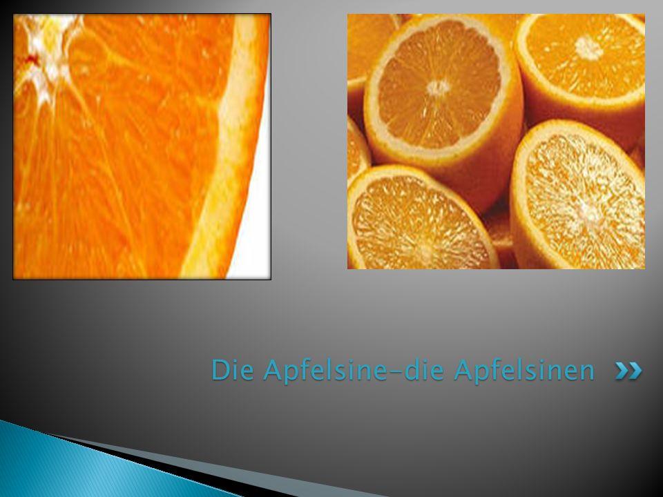 Die Apfelsine-die Apfelsinen