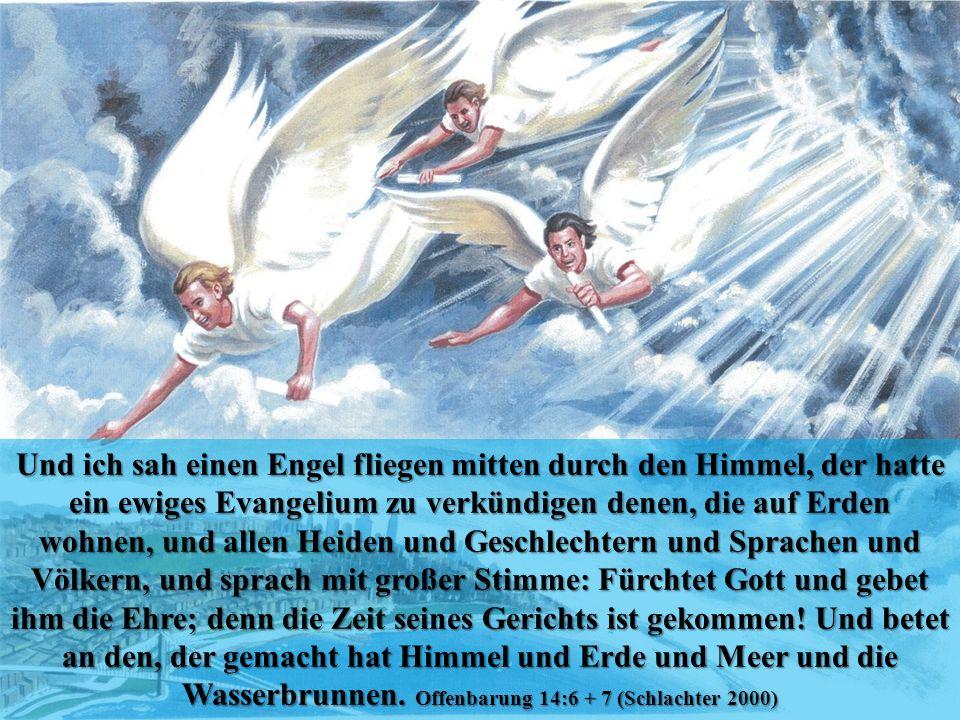 Wasserbrunnen. Offenbarung 14:6 + 7 (Schlachter 2000)