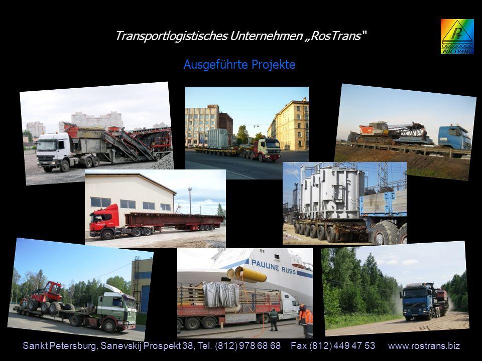 """Transportlogistisches Unternehmen """"RosTrans Ausgeführte Projekte"""
