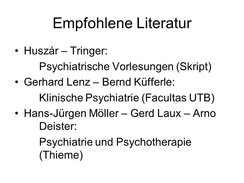 Empfohlene Literatur Huszár – Tringer: