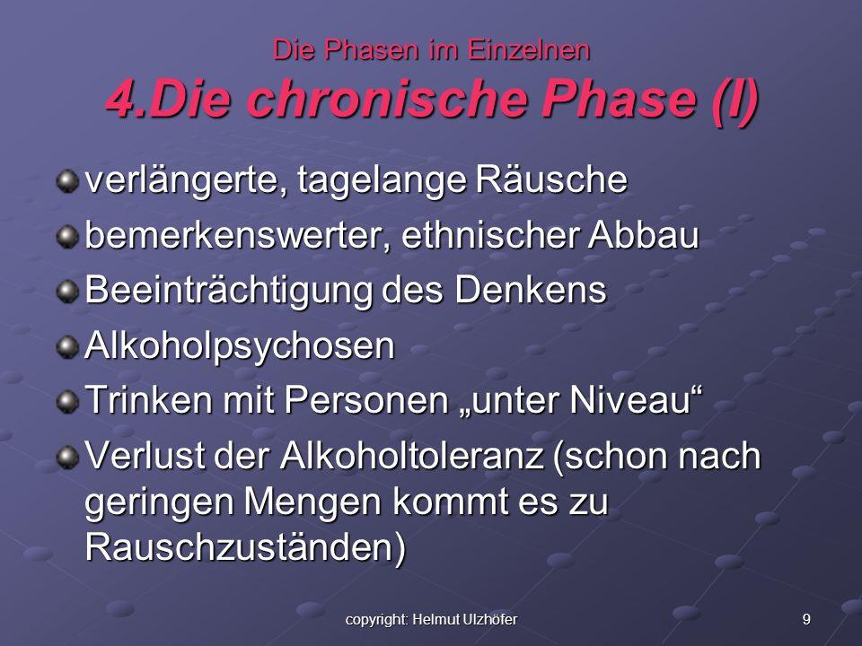 Die Phasen im Einzelnen 4.Die chronische Phase (I)