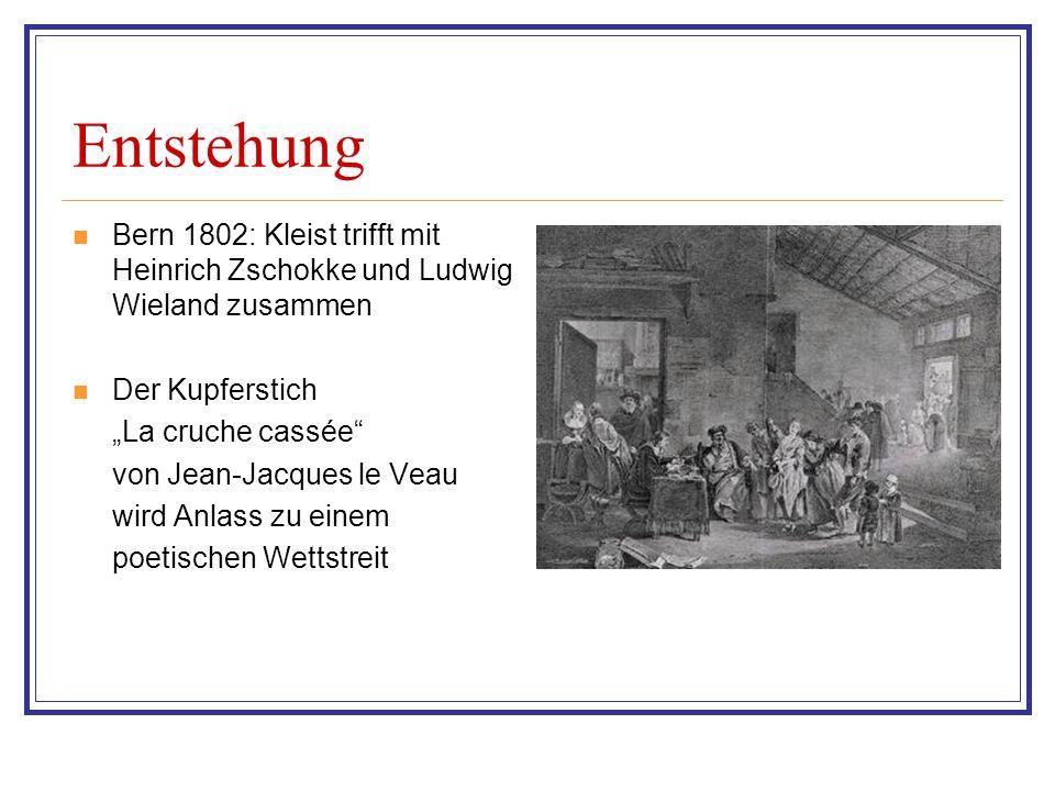 Entstehung Bern 1802: Kleist trifft mit Heinrich Zschokke und Ludwig Wieland zusammen. Der Kupferstich.