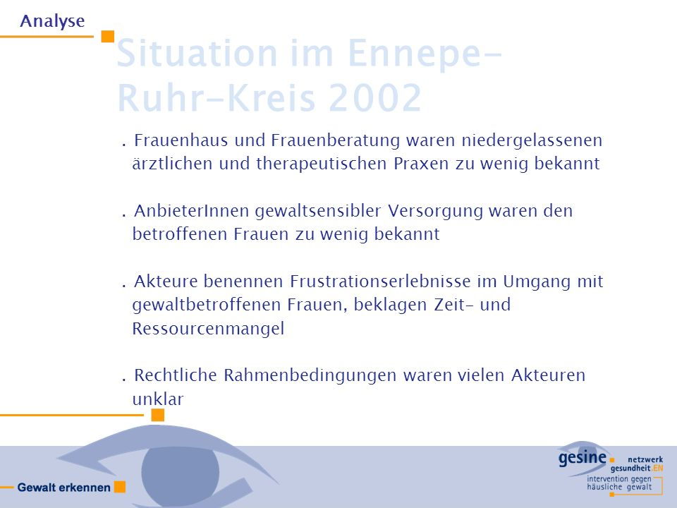 Situation im Ennepe- Ruhr-Kreis 2002