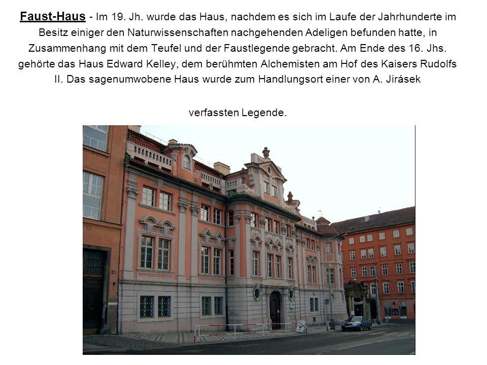 Faust-Haus - Im 19. Jh.