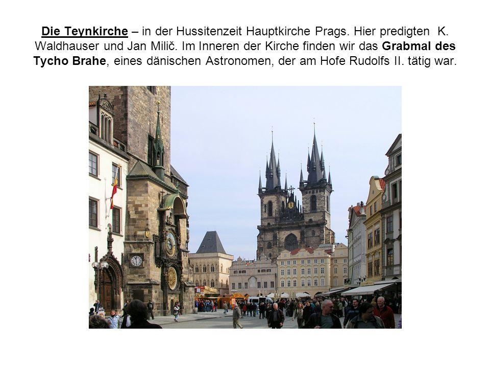Die Teynkirche – in der Hussitenzeit Hauptkirche Prags