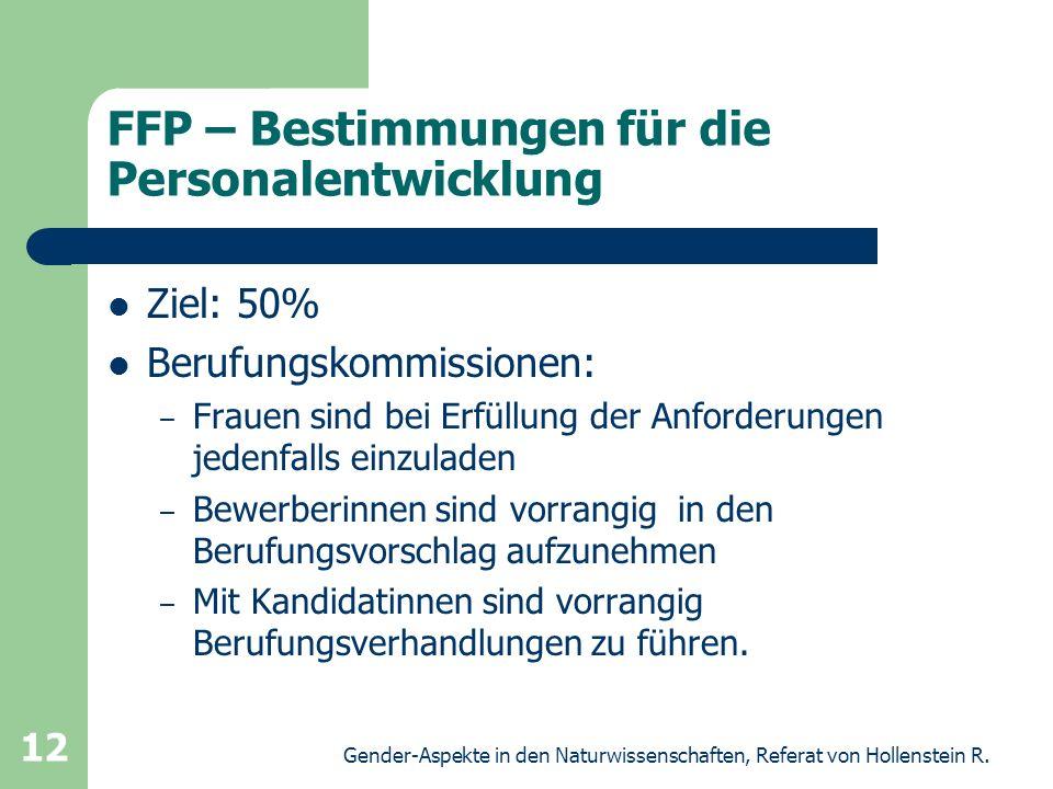 FFP – Bestimmungen für die Personalentwicklung