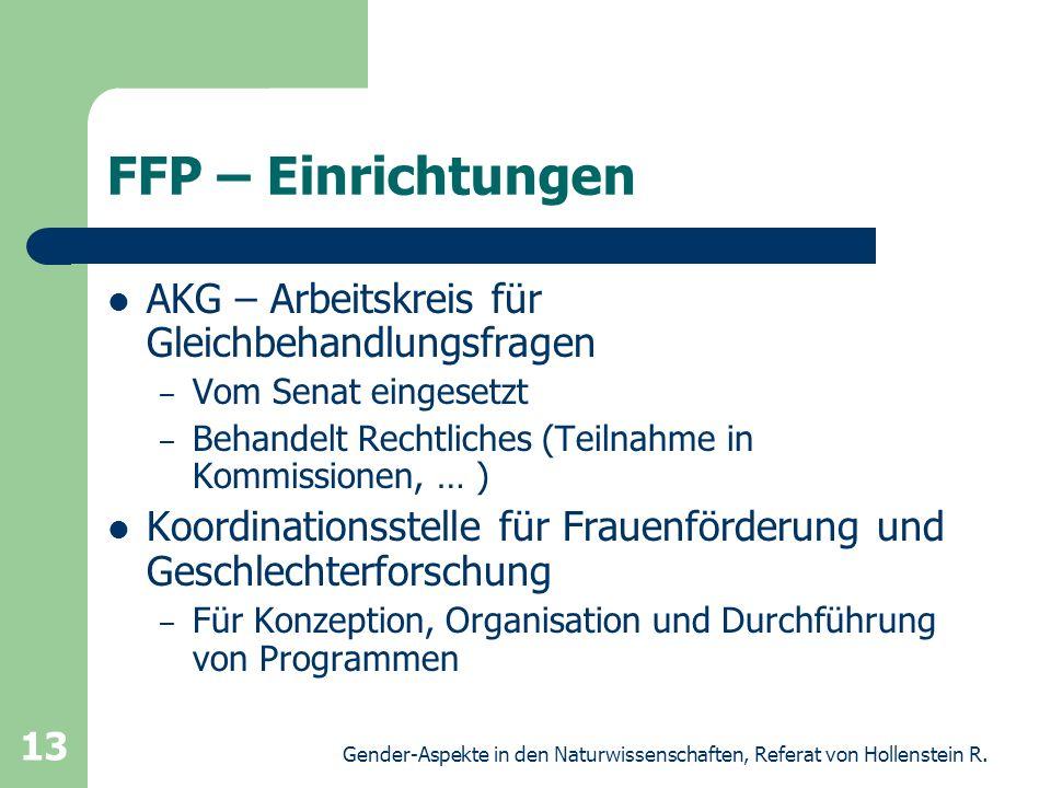 FFP – Einrichtungen AKG – Arbeitskreis für Gleichbehandlungsfragen