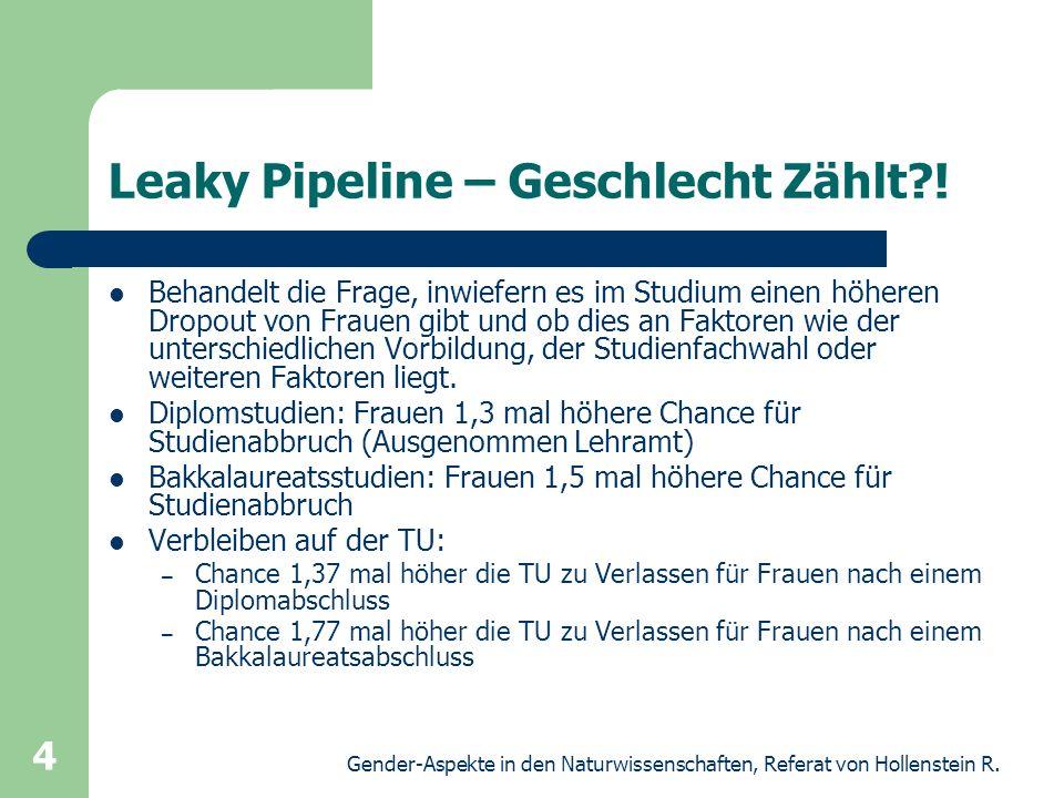 Leaky Pipeline – Geschlecht Zählt !