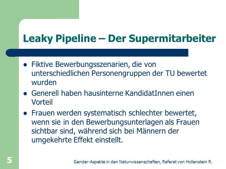 Leaky Pipeline – Der Supermitarbeiter