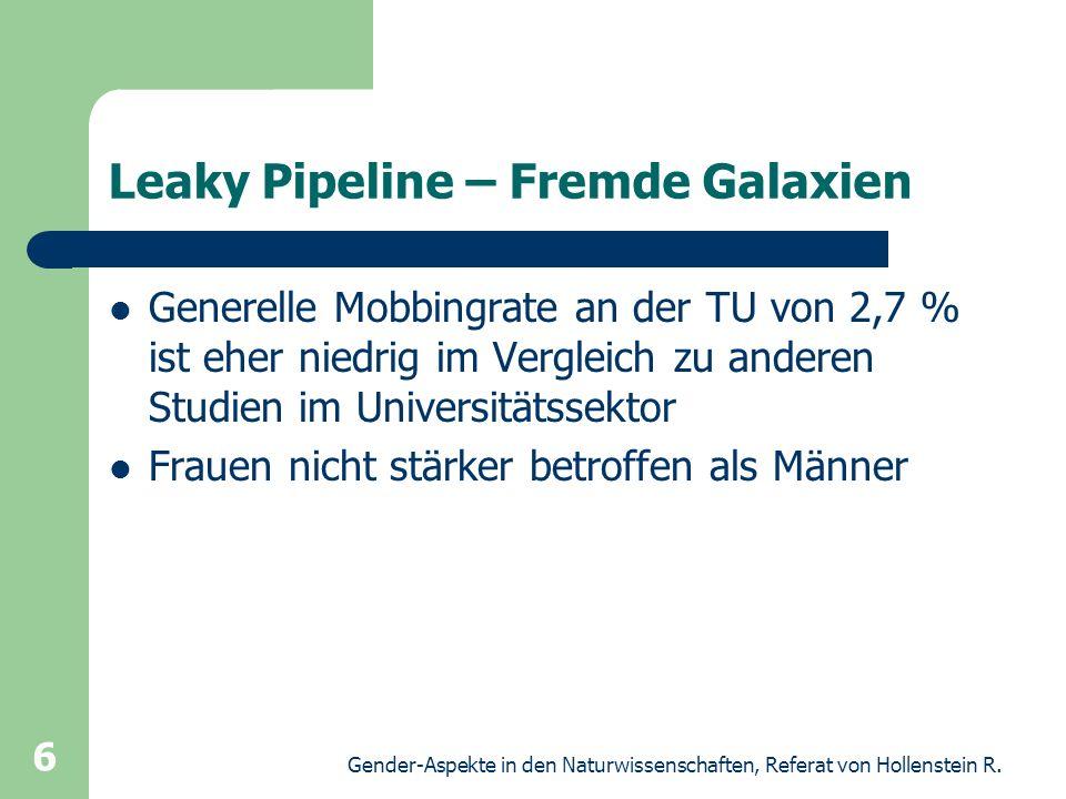 Leaky Pipeline – Fremde Galaxien