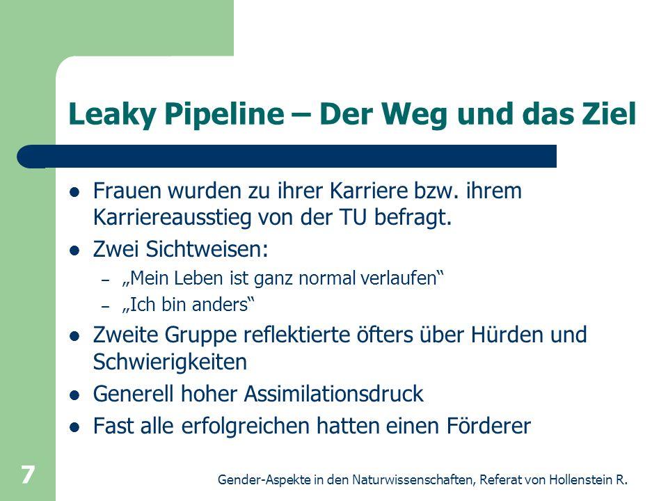 Leaky Pipeline – Der Weg und das Ziel