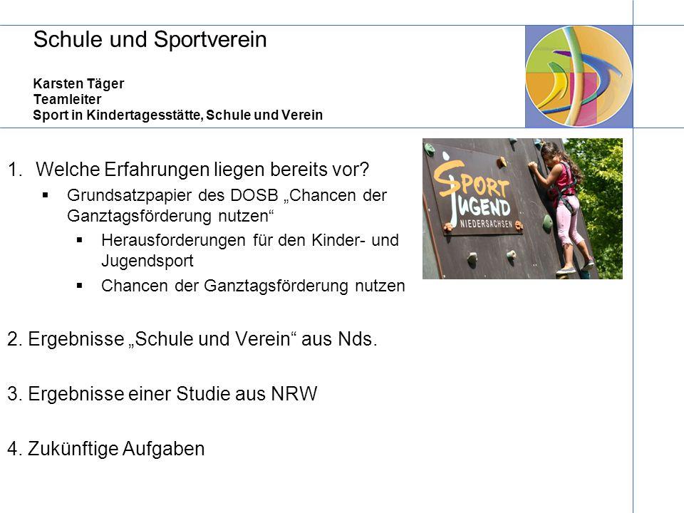Schule und Sportverein Karsten Täger Teamleiter Sport in Kindertagesstätte, Schule und Verein