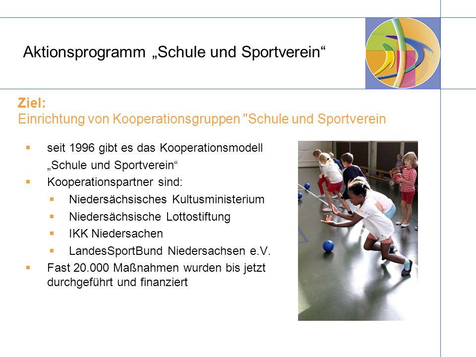 """Aktionsprogramm """"Schule und Sportverein"""