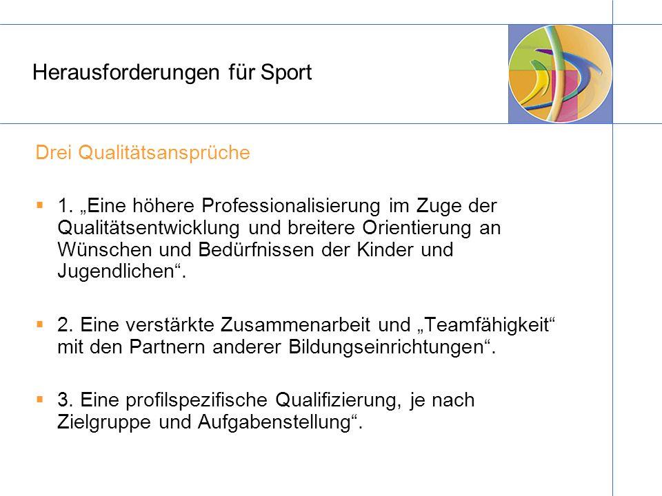 Herausforderungen für Sport