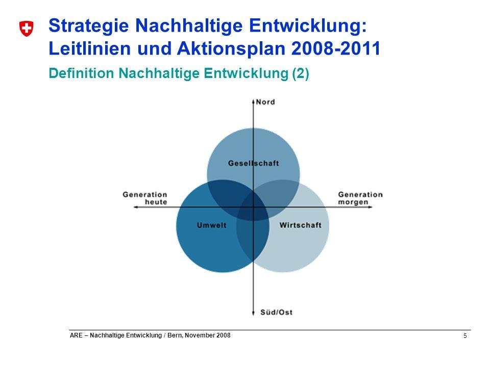 Strategie Nachhaltige Entwicklung: Leitlinien und Aktionsplan 2008-2011