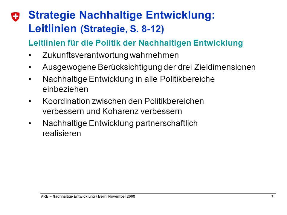 Strategie Nachhaltige Entwicklung: Leitlinien (Strategie, S. 8-12)