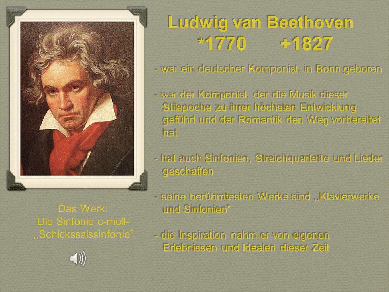 Die Sinfonie c-moll-,,Schickssalssinfonie