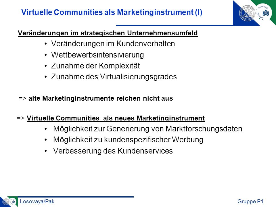 Virtuelle Communities als Marketinginstrument (I)