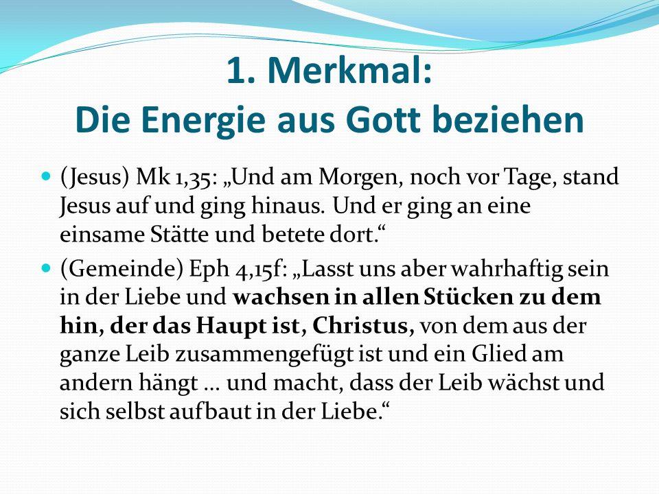1. Merkmal: Die Energie aus Gott beziehen