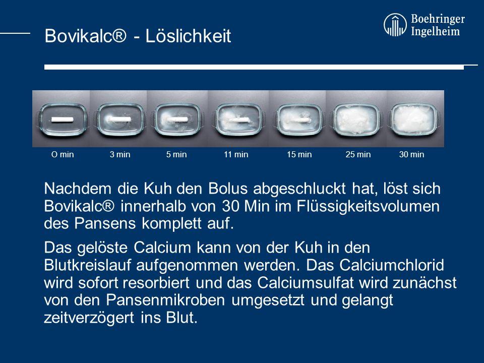 Bovikalc® - Löslichkeit