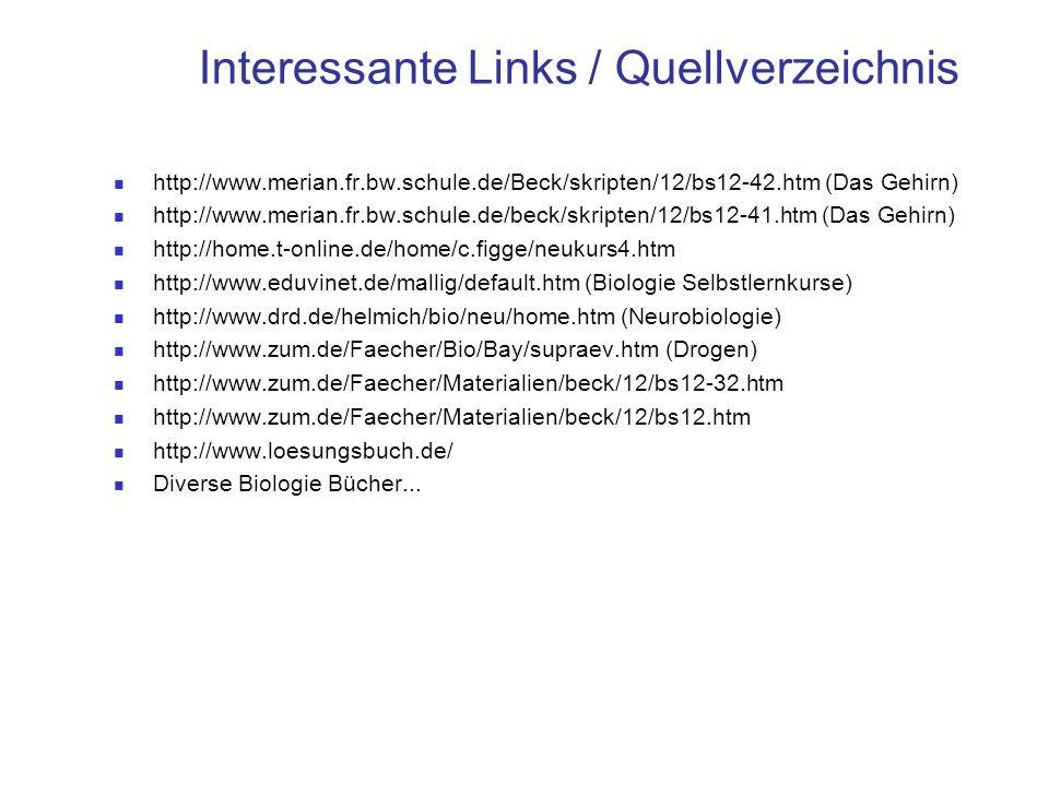 Interessante Links / Quellverzeichnis