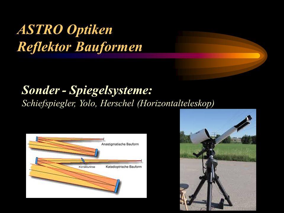 ASTRO Optiken Reflektor Bauformen Sonder - Spiegelsysteme: