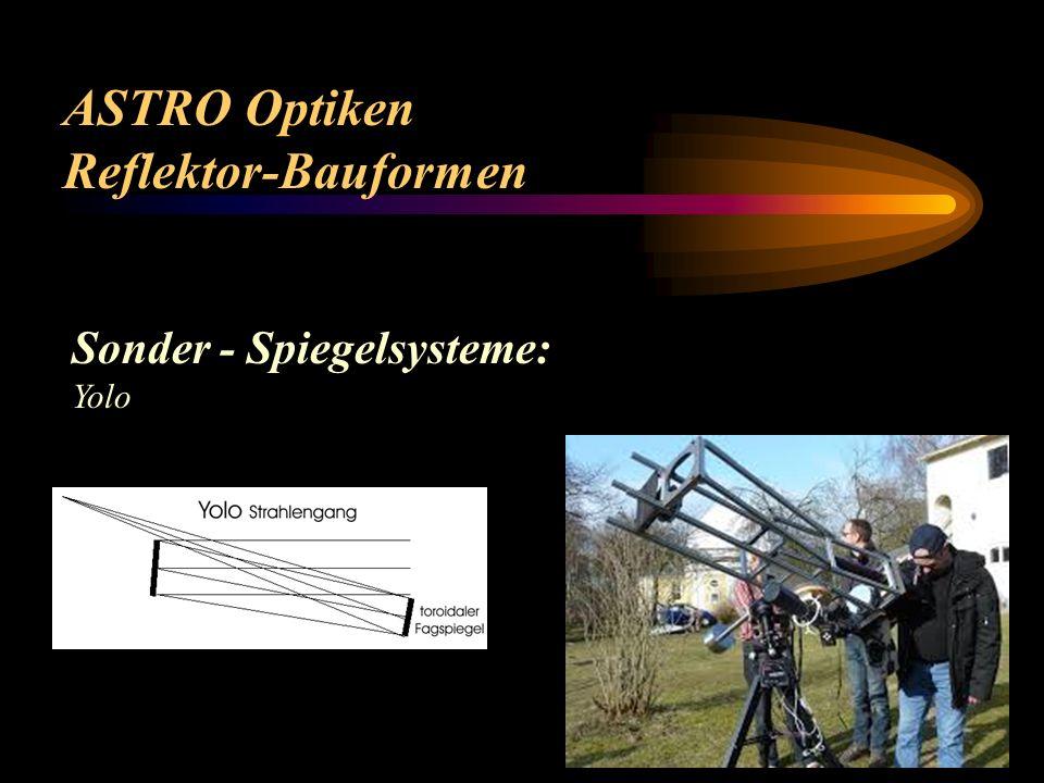ASTRO Optiken Reflektor-Bauformen Sonder - Spiegelsysteme: Yolo