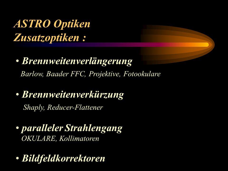 ASTRO Optiken Zusatzoptiken : Brennweitenverlängerung