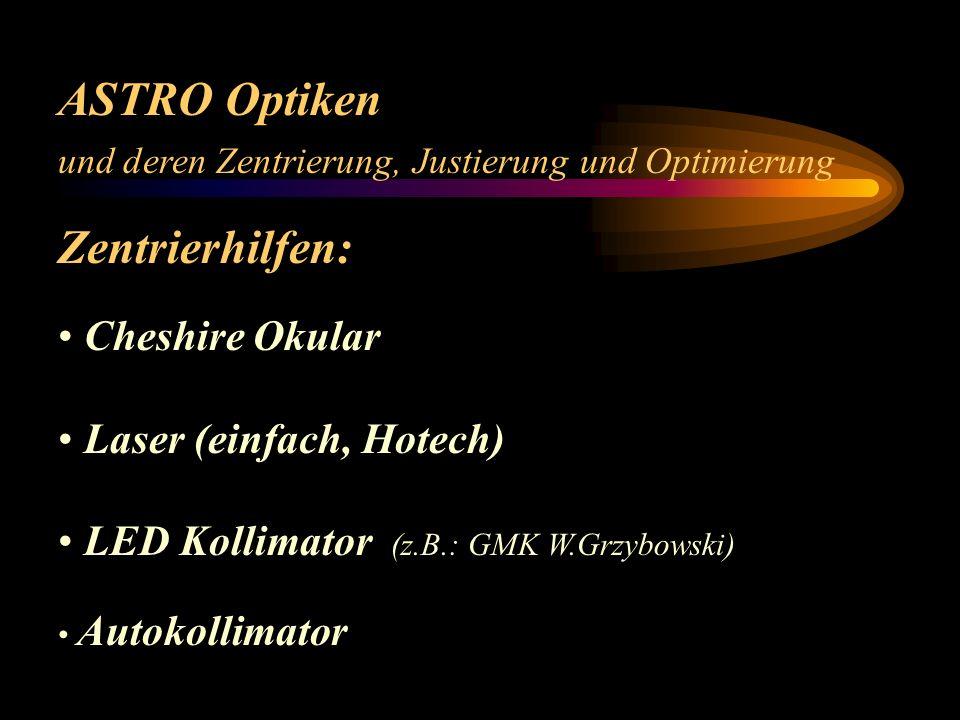 ASTRO Optiken Zentrierhilfen: Cheshire Okular Laser (einfach, Hotech)