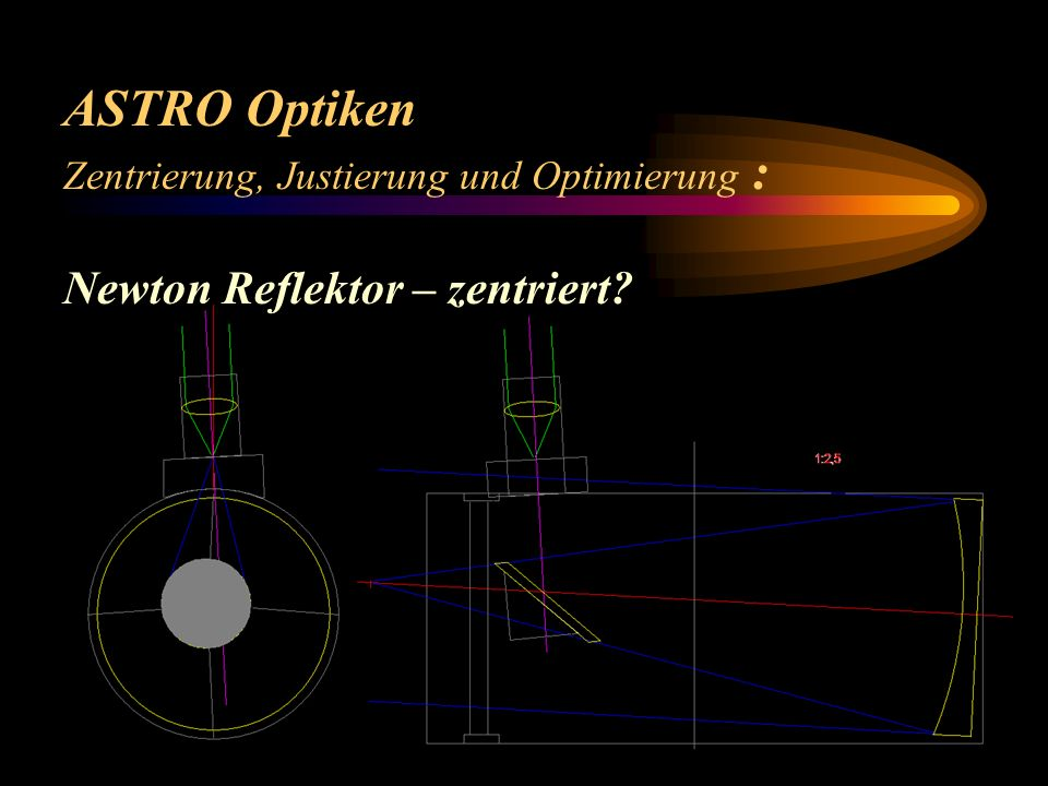 ASTRO Optiken Newton Reflektor – zentriert