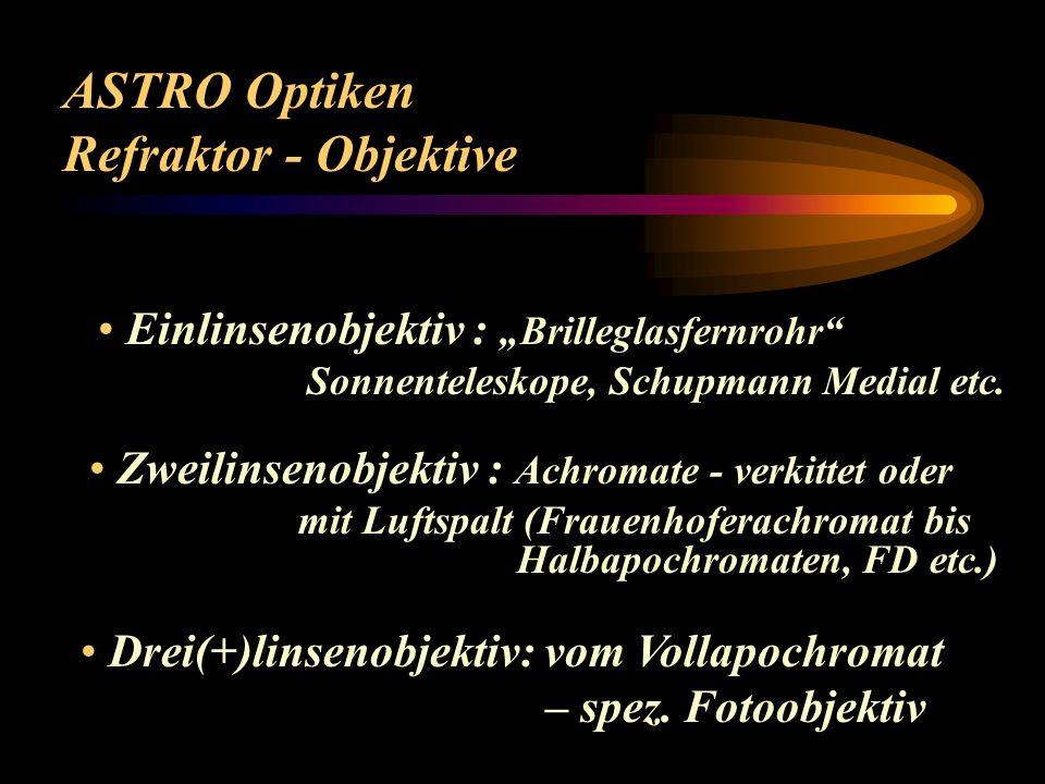 ASTRO Optiken Refraktor - Objektive