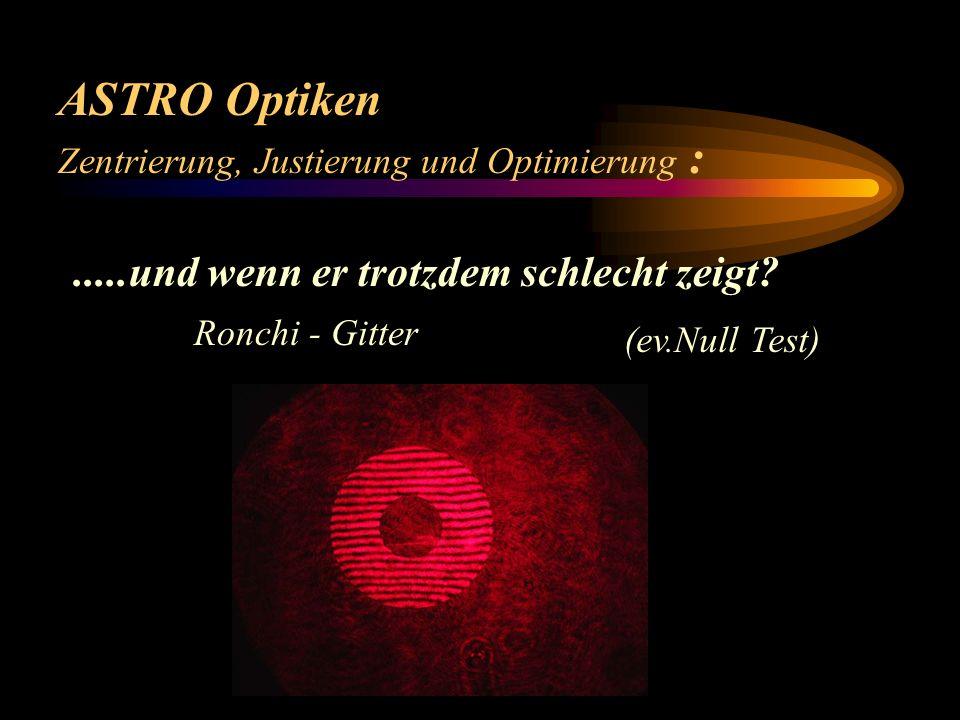 ASTRO Optiken .....und wenn er trotzdem schlecht zeigt